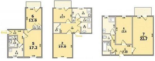 Планировки типовых квартир в харькове.